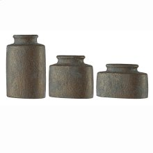 Evans Oval Vases, Set of 3