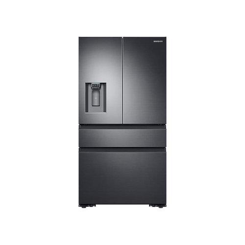 4-Door French Door Counter Depth Refrigerator in Black Stainless Steel