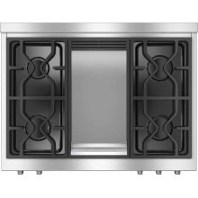 "HR 1936 DF GD 36"" Dual Fuel Range - DF LP"