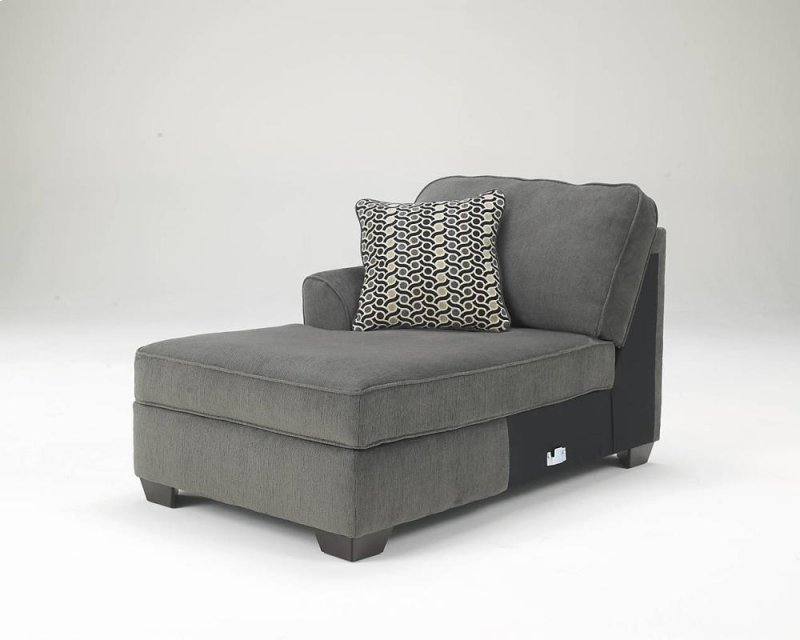 graphite piece sectional by w chaise loric ashley dimensions smoke