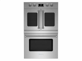 "30"" Electric Double Wall Oven with French & Drop Down Doors"