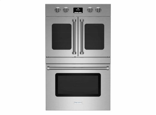 """30"""" Electric Double Wall Oven with French & Drop Down Doors"""