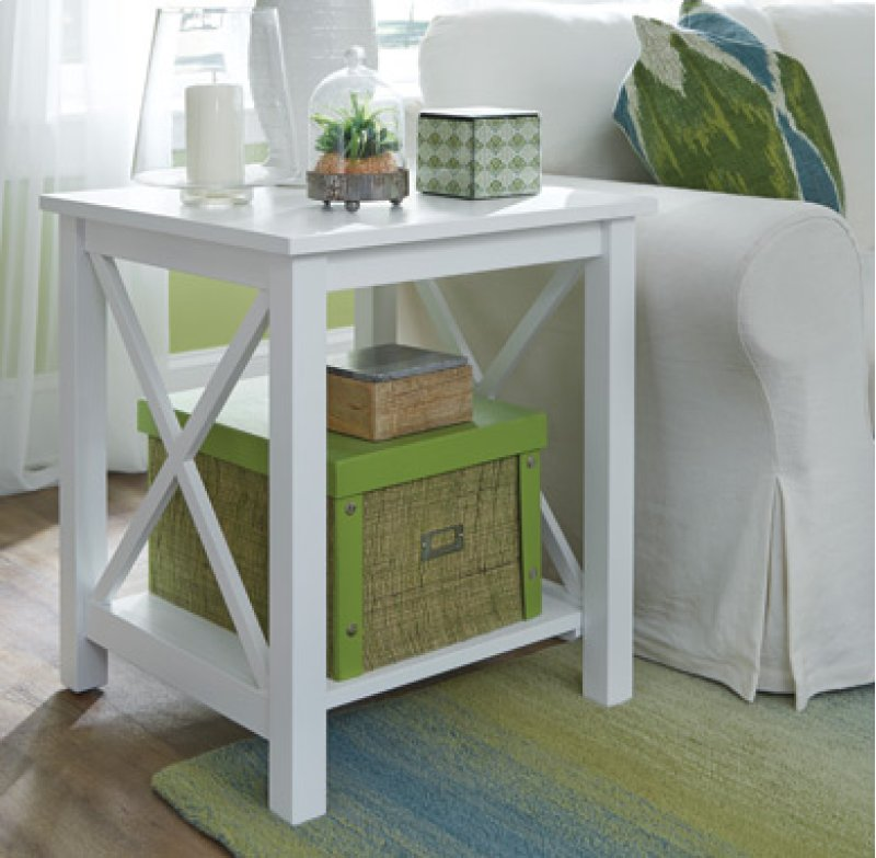 End Table Pure White Hidden
