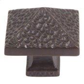 Craftsman Square Knob 1 1/4 Inch - Aged Bronze