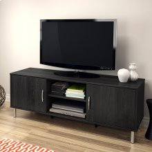 TV Stand with Doors, for TVs up to 60'' - Gray Oak