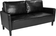 Washington Park Upholstered Sofa in Black Leather