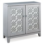 Mirrored Diamond Filigree Hallstand/Entryway Table with Adjustable Shelf #10083-SV Product Image