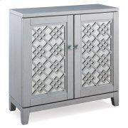 Mirrored Diamond Filigree Hallstand/Entryway Table with Adjustable Shelf #10083-SV Product Image
