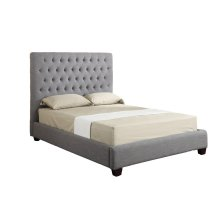 Emerald Home Sophia Upholstered Bed Kit King Linen Grey B107p-12-k