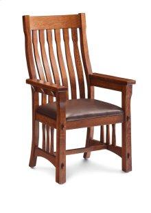 MaRyan Arm Chair, Leather Cushion Seat