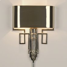 Torch Sconce-Nickel-HW