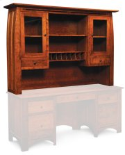 Aspen Hutch Top with Inlay, For Desk or Credenza, Large Product Image