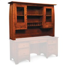 """Aspen Hutch Top with Inlay, For Desk or Credenza, 72"""""""