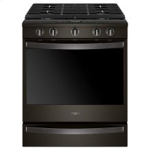Whirlpool® 5.8 Cu. Ft. Smart Slide-in Gas Range with EZ-2-Lift™ Hinged Cast-iron Grates - Black Stainless