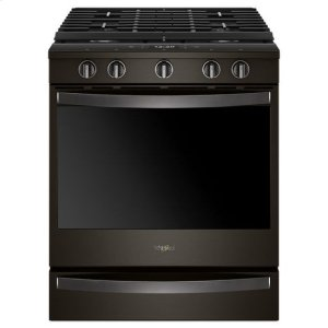 Whirlpool(R) 5.8 Cu. Ft. Smart Slide-in Gas Range with EZ-2-Lift(TM) Hinged Cast-iron Grates - Black Stainless - BLACK STAINLESS