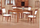 """DINING CHAIR - 2PCS / AMARETTO """"EURO"""" STYLE Product Image"""