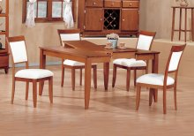 """DINING CHAIR - 2PCS / AMARETTO """"EURO"""" STYLE"""