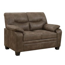 Meagan Casual Brown Loveseat