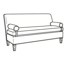 Sofa with Acrylic Legs