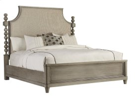 Morrissey California King Healey Upholstered Panel Bed Smoke