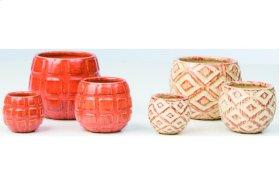 Fanta Fairy Garden Pots - 2 Sets of each