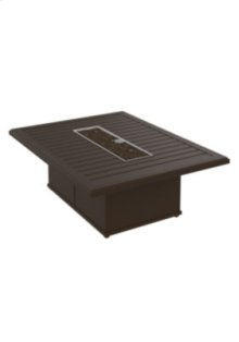 """Banchetto 54"""" x 42"""" Rectangular Fire Pit, Manual Ignition"""