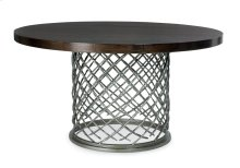 "Hallam Metal Dining Table with Wood Top (54"") in Chocolate"