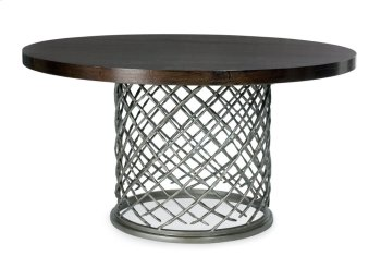 """Hallam Metal Dining Table with Wood Top (54"""") in Chocolate Product Image"""