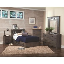 2-Drawer Mates Bed Base and Headboard
