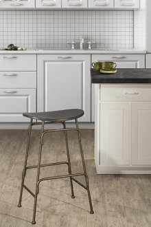 Mitchell Non-swivel Backless Bar Stool - Old Bronze