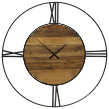 Metal & Wood Wall Clock  43in X 43in