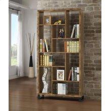 Rustic Antique Nutmeg Bookcase