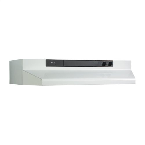"24"" 220 CFM White Under-Cabinet Range Hood"