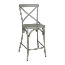 X Back Counter Chair - Green