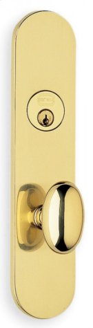 Exterior Traditional Mortise Entrance Knob Lockset with Plates - Solid Brass in SB (Shaded Bronze, Lacquered) Product Image