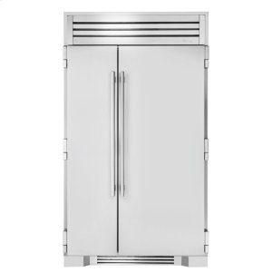 True Residential48 Inch Solid Stainless Door Side-by-Side