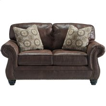 Benchcraft Breville Loveseat in Espresso Faux Leather [FBC-8009LS-ESP-GG]