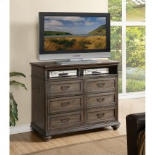 Belmeade - Entertainment Chest - Old World Oak Finish