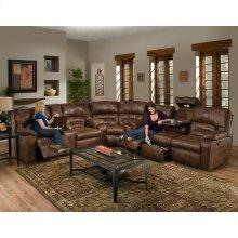 Reclining Sofa w/Drop Down Table, Lights & Drawer