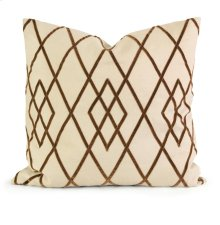 IK Ayaka Brown Velvet on Linen Pillow w/ Down Fill