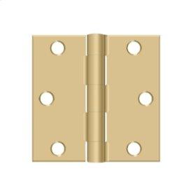 "3""x 3"" Square Hinge - Brushed Brass"
