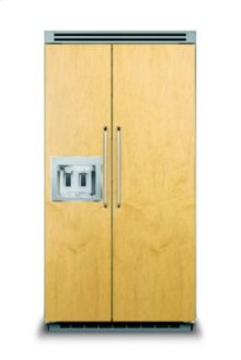 """42"""" Custom Panel Side-by-Side Refrigerator with Dispenser"""
