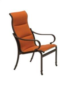 Torino Padded Sling High Back Dining Chair