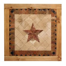 4' Square Marble Star Table