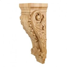 """6-3/4"""" x 7-3/4"""" x 22"""" Large Acanthus Wood Corbel, Species: Cherry. e Hardware Resources, Inc."""