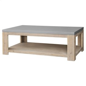 Boston Coffee Table with Concrete Top, Brushed Smoke