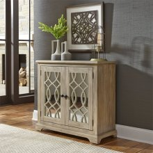 2 Door Mirrored Accent Cabinet