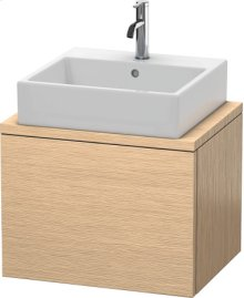 Delos Vanity Unit For Console Compact, Brushed Oak (real Wood Veneer)