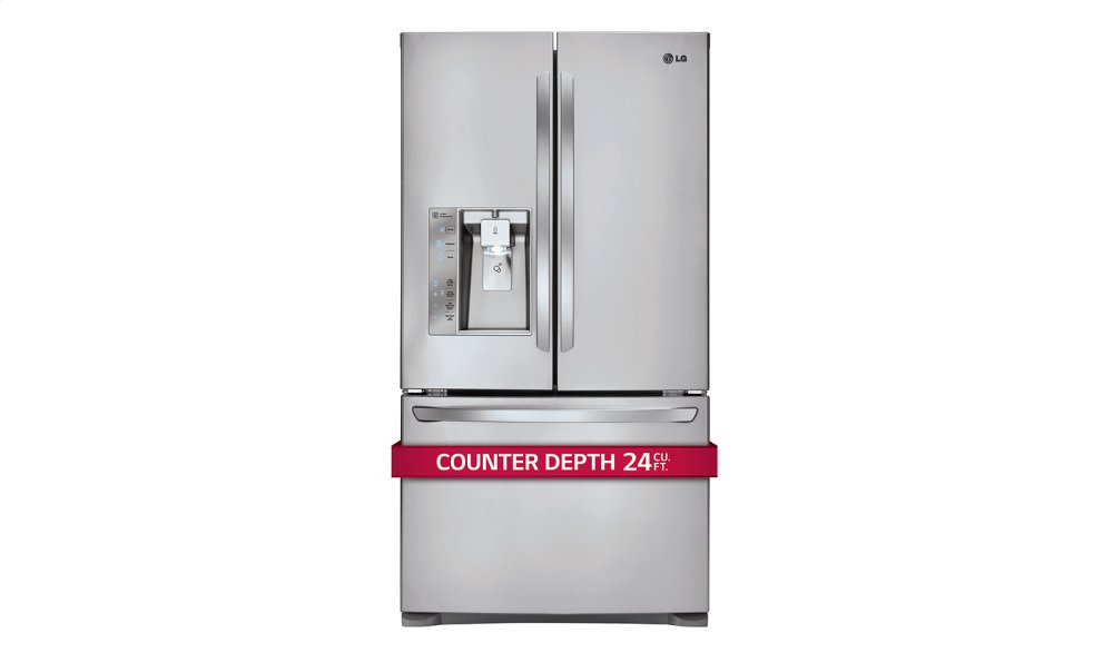 LG Appliances 24 Cu. Ft. French Door Counter Depth Refrigerator