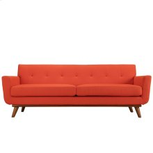 Engage Upholstered Fabric Sofa in Atomic Red